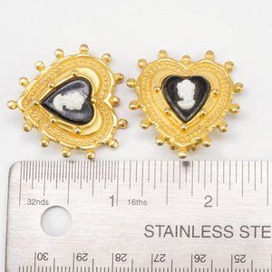 Vintage Jewelry - 3/$20 Catherine Stein Clip On Earrings Cameo Heart